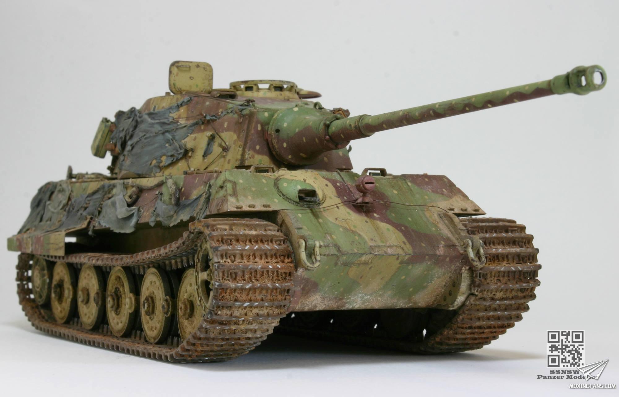 虎王重型坦克 涂装_1/35 KING TIGER Berlin April 1945--虎王重型坦克(威龙)_静态模型爱好 ...