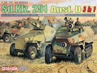 【威龙 6233】1/35德国Sd.Kfz.251 Ausf.D半履带车3in1板件图和说明书