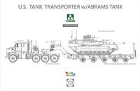 M1070拖车及M1A2 SEP Tusk II主战坦克
